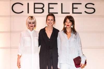 Liz Solari, Nicole Neumann y Monica Antonopulos en cocktail de CIBELES