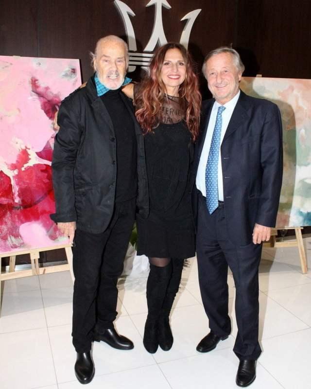 Gino Bogani, Ginette Reynal y Cristiano Rattazzi en la presentación de #Etérea