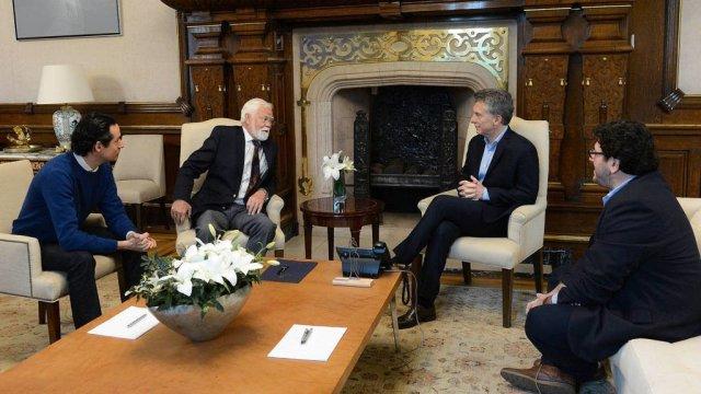 Macri recibió al teólogo sudafricano Charles Villa-Vicencio