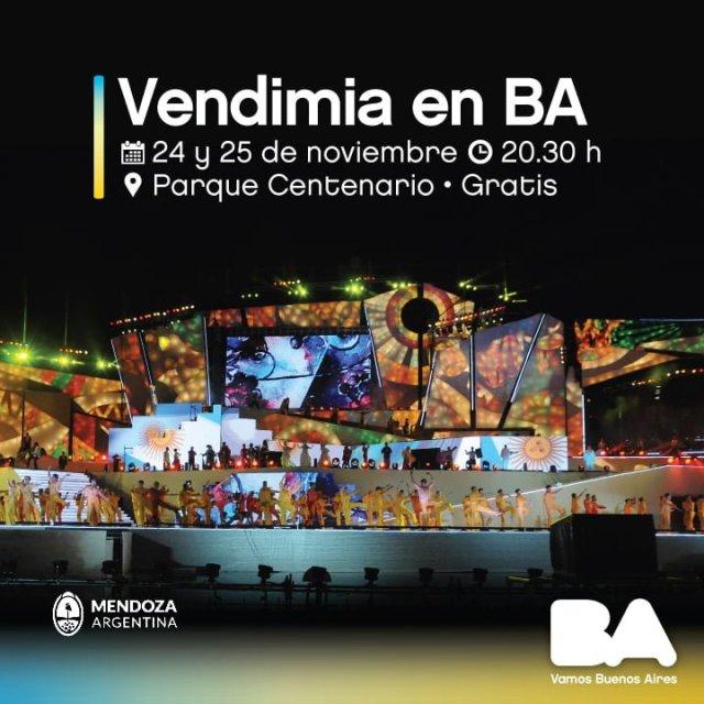 """El anfiteatro del Parque Centenario recibe a la """"Vendimia en BA"""""""