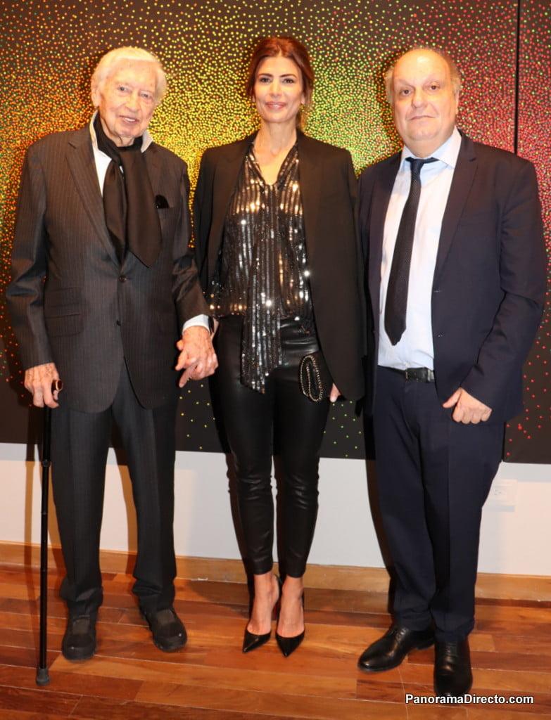 Julio Le Parc, Juliana Awada y Hernán Lombardi en el CCK