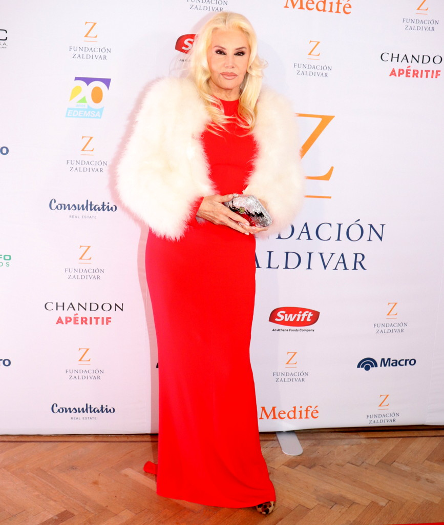 Susana Giménez en la Gala Anual a beneficio de Fundación Zaldivar