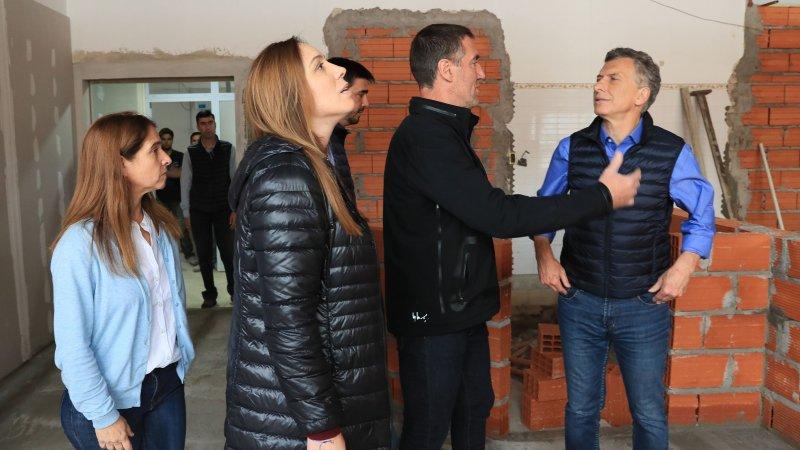 El presidente Mauricio Macri y la gobernadora María Eugenia Vidal visitaron el Hospital Luciano Fortabat de Olavarría