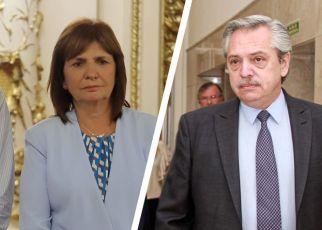 Patricia Bullrich y Alberto Fernández