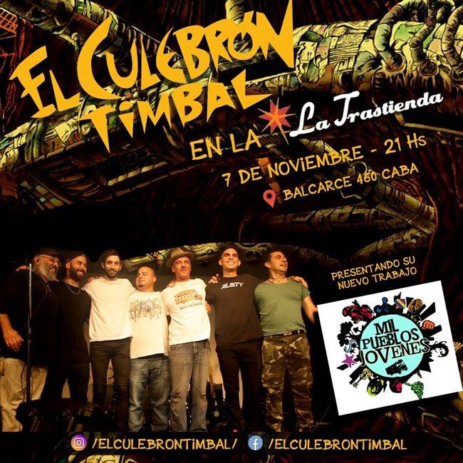 El Culebrón Timbal festeja sus 20 años y presenta «Mil pueblos jóvenes» en la Trastienda