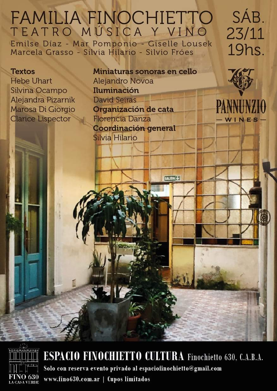 «Familia Finocchieto»  una experiencia artística en el maravilloso espacio Fino 630
