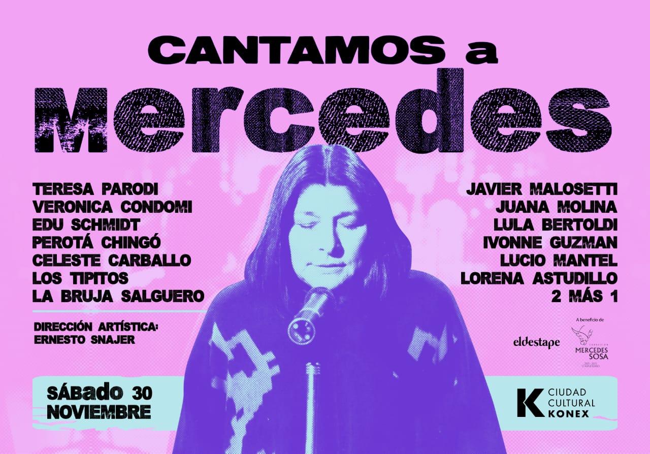 «Cantamos a Mercedes» con Javier Malosetti, Juana Molina, Lula Bertoldi; Los Tipitos y otros en el Konex