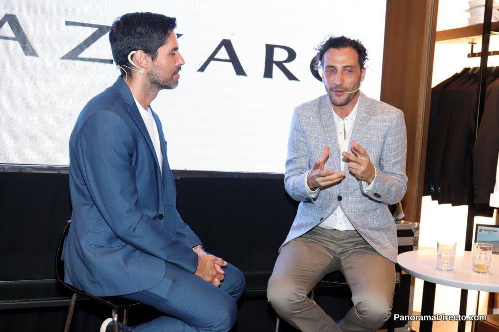 Luciano Cáceres dio una charla en el local Azzaro París de Galerías Pacífico