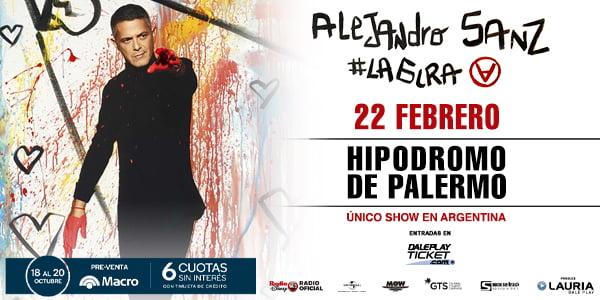 Alejandro Sanz brindará su único show en el Hipódromo  de Palermo