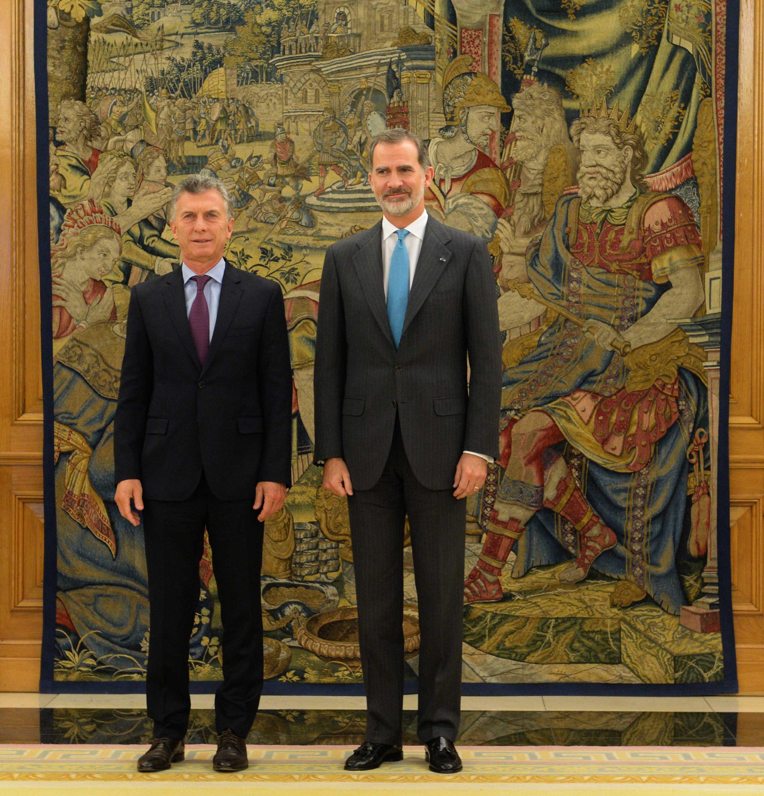 Macri fue recibido por el Rey Felipe VI de España