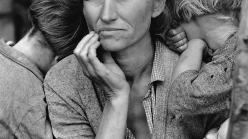 """""""Madre migrante"""" tomada por la fotógrafa estadounidense Dorothea Lange"""