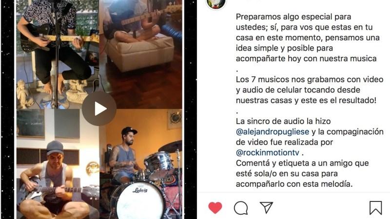 """La banda Ser toca su hit """"Sola"""" en casa"""