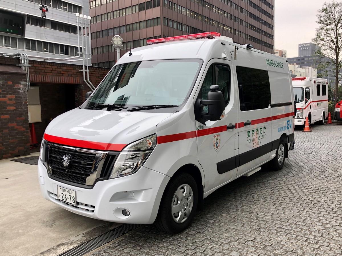 La Ambulancia Cero Emisiones de Nissan se convierte en parte de la iniciativa «Cero Emisiones de Tokio»