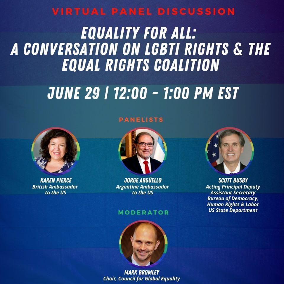La Embajada Argentina en EEUU organizó un panel sobre coronavirus y turismo LGBT
