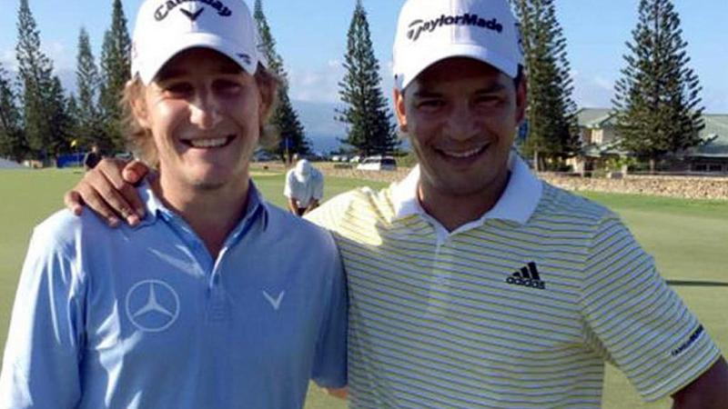 Los golfistas Fabián Gómez y Emiliano Grillo