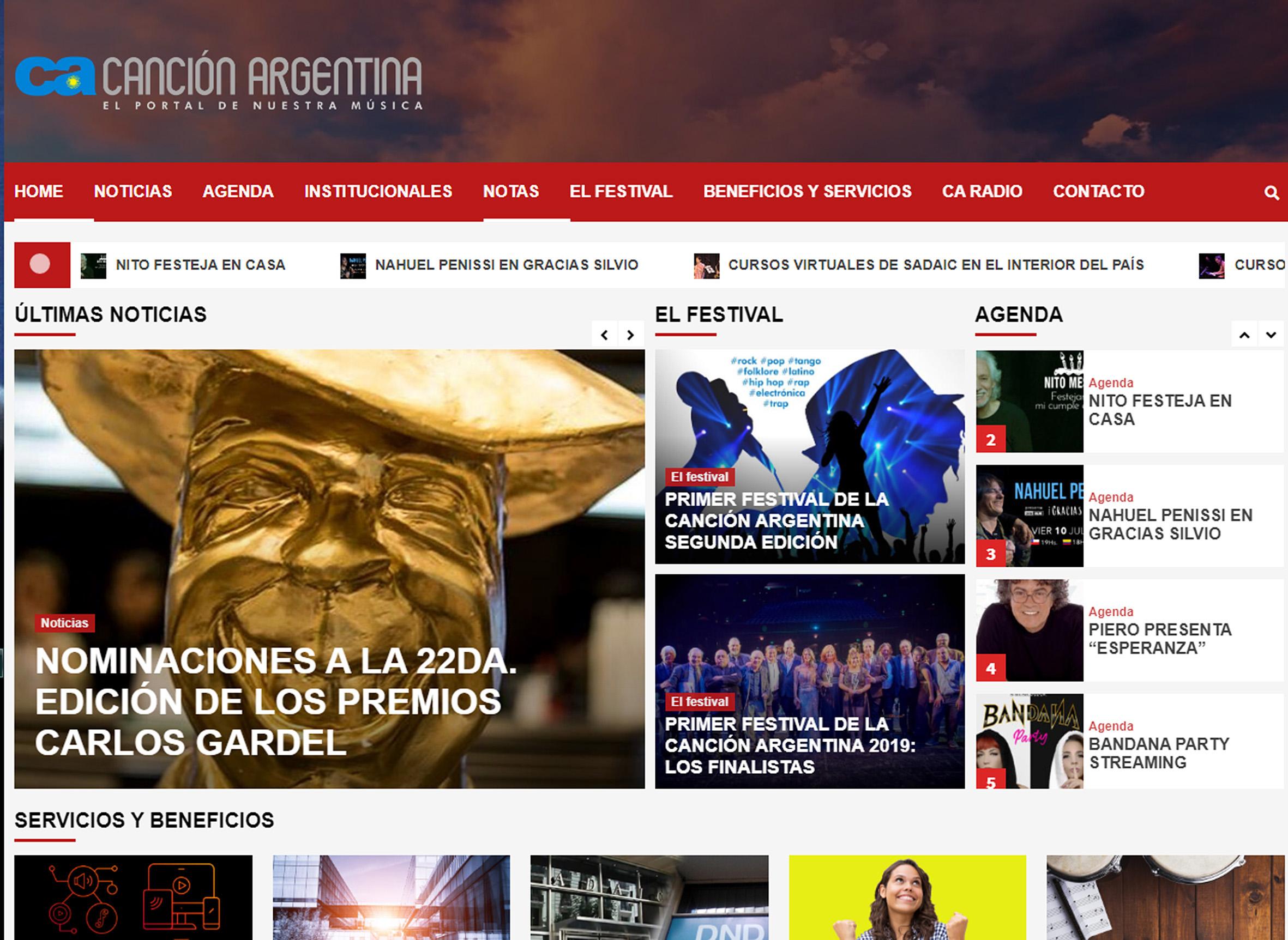 CANCIÓN ARGENTINA, el nuevo portal y radio de nuestra música nacional