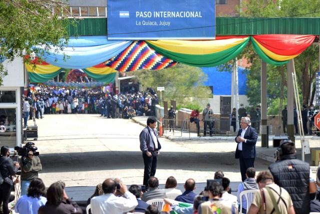 Alberto Fernández despidió hoy a Evo Morales