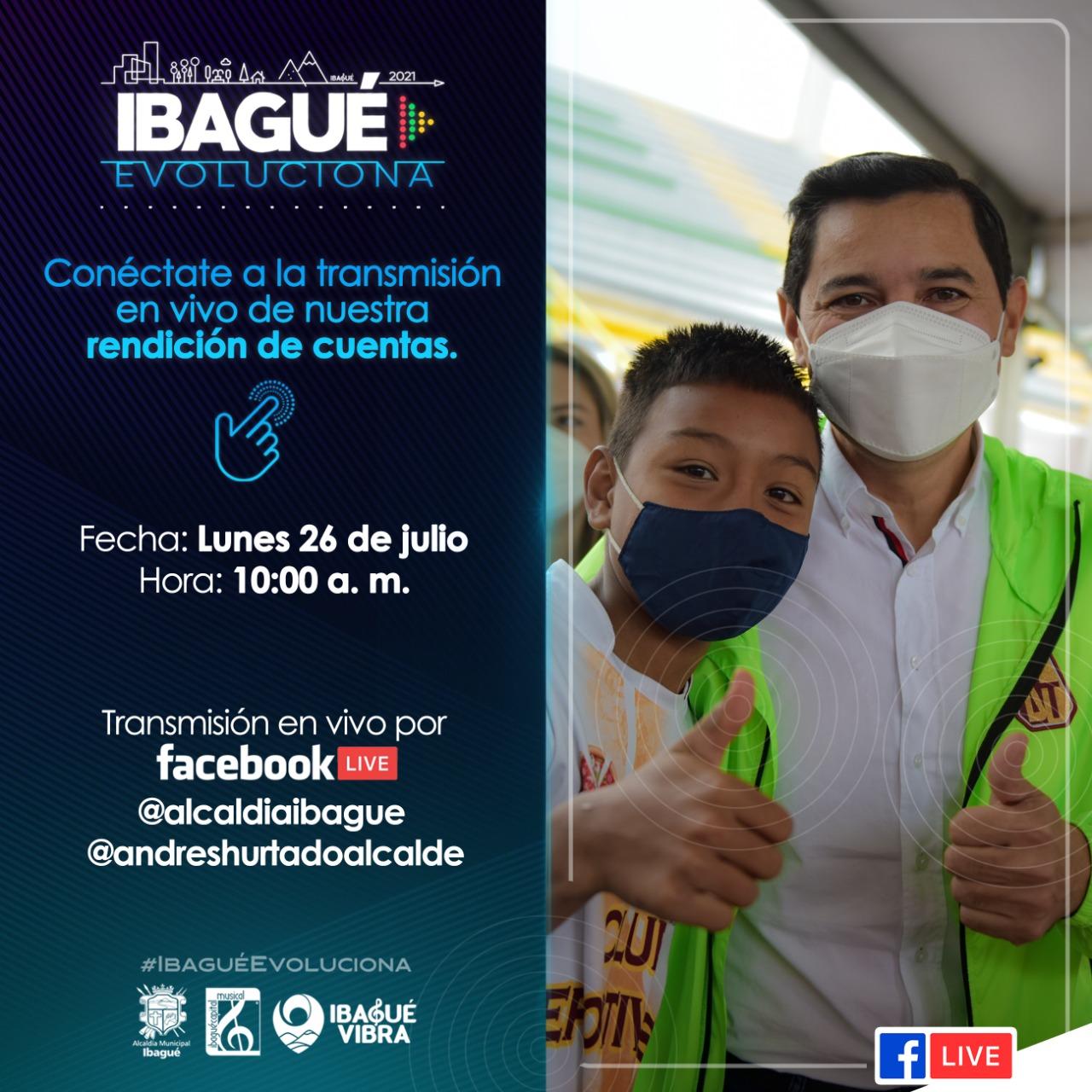 Vea este lunes por Facebook la rendición de cuentas de la alcaldia de Ibagué. 1