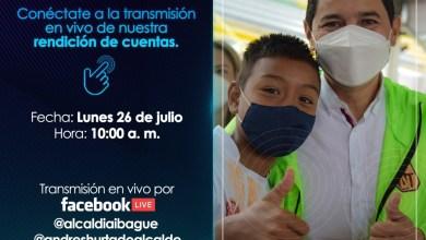 Vea este lunes por Facebook la rendición de cuentas de la alcaldia de Ibagué. 3