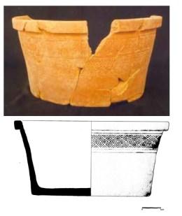 Alguidar, séculos XII-XIII. Mértola. Copiado daqui: http://www.camertola.pt/sites/default/files/africanos.pdf