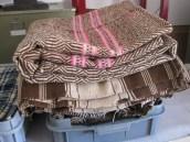 Velhas mantas de lã