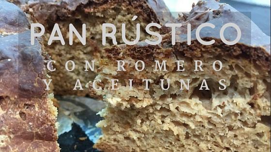 Pan rústico sin gluten con romero y aceitunas