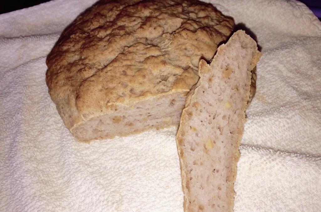 hogaza de pan con trigo sarraceno