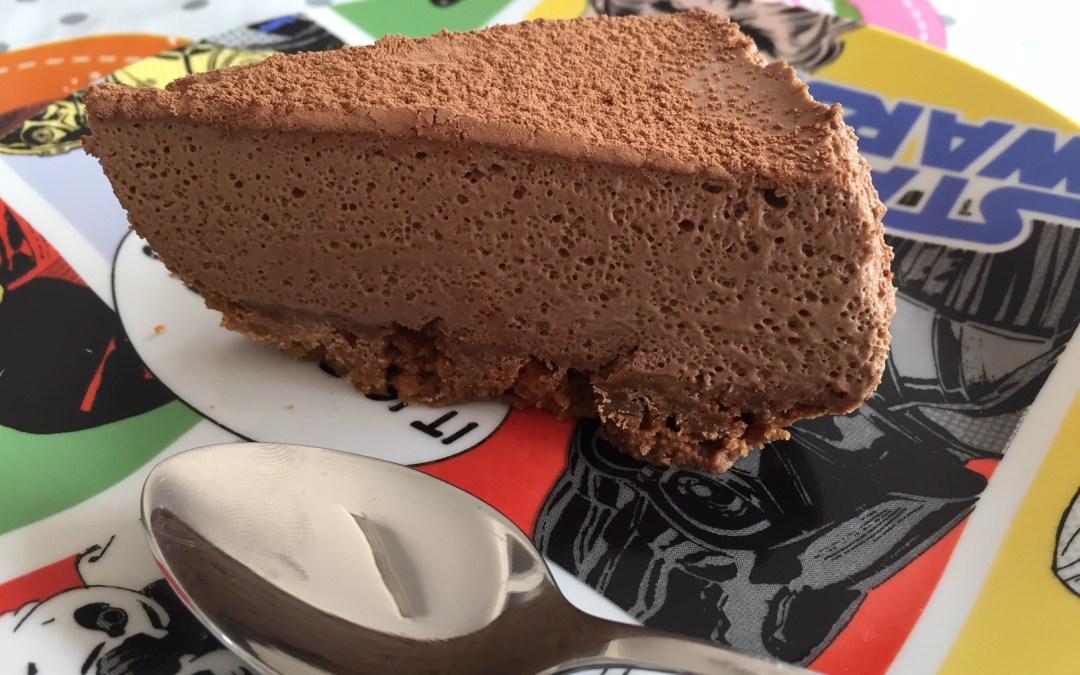Tarta mousse de chocolate sin gluten