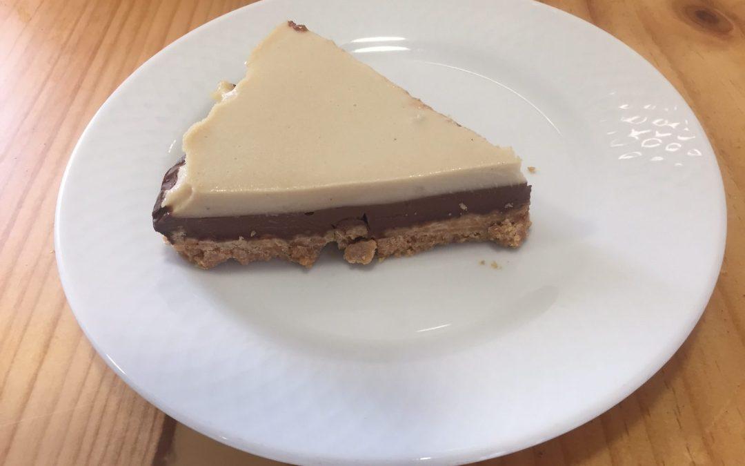 Tarta fría de 2 chocolates sin gluten y sin lácteos