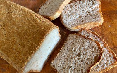 Pan sin gluten de arroz y castaña