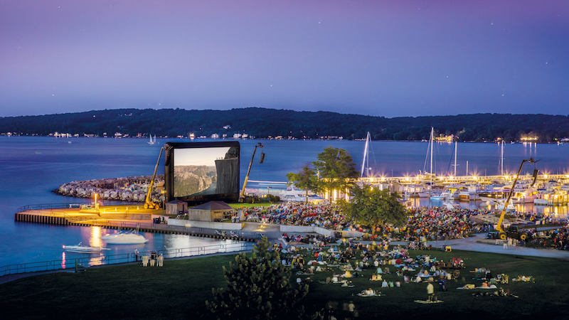 AIRSCREEN 20m x 10m en los Estados Unidos, Traverse City Festival