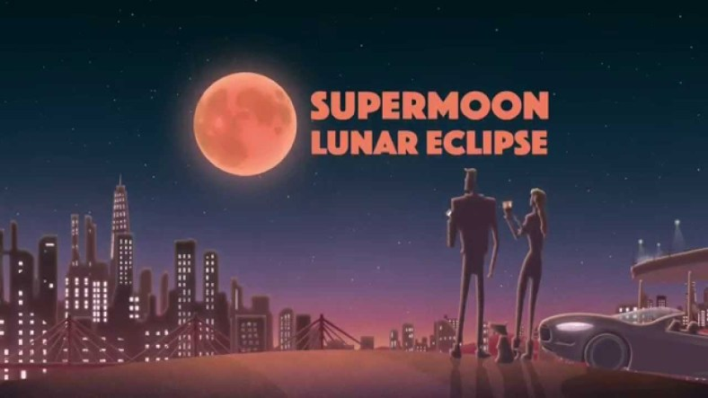 Eclipse de superlluna a lo retro