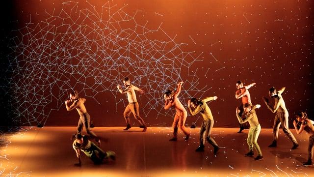 Pixel dance show