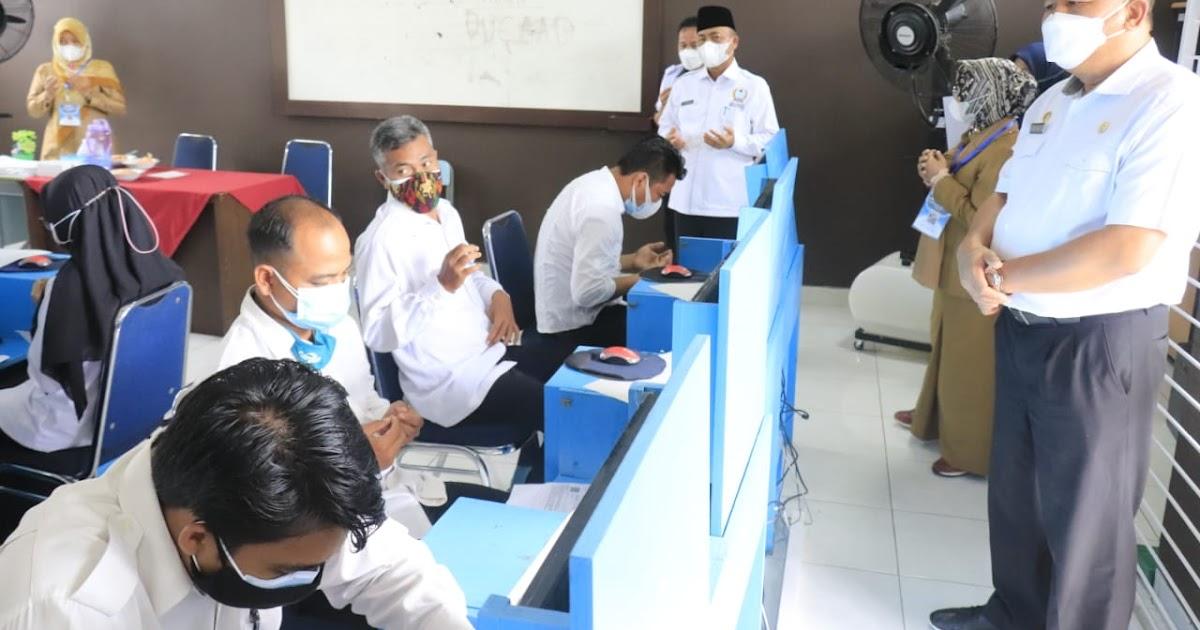 Sekda Muba Tinjau Pelaksanaan Tes PPPK di Dua Lokasi