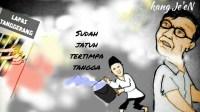 Karikatur: Si Jago Merah Amuk Penghuni Lapas Tanggerang