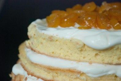 Kumquat yoghurt cake detail