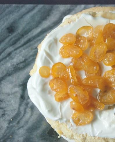 Kumquat yoghurt cake from above