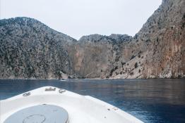 Boat in the Aegean sea