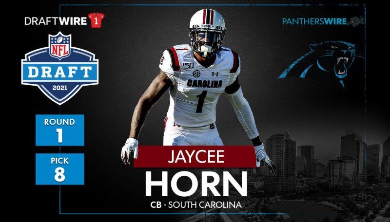 Panthers pass on Justin Fields, pick South Carolina CB Jaycee Horn