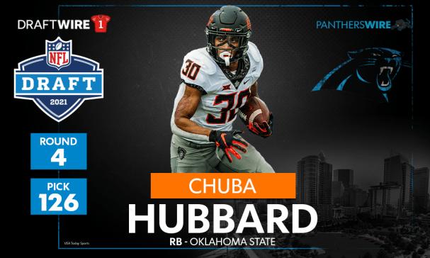 Panthers pick Oklahoma State RB Chuba Hubbard at No. 126