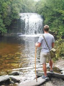 Hiker visits Schoolhouse Falls