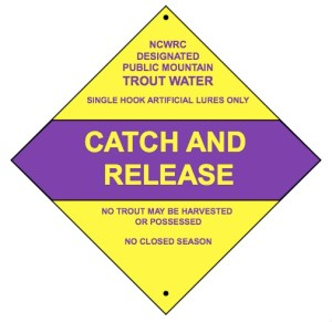 Catch and Release, Artificial Lures Regulations