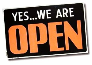 Yes... we are open!