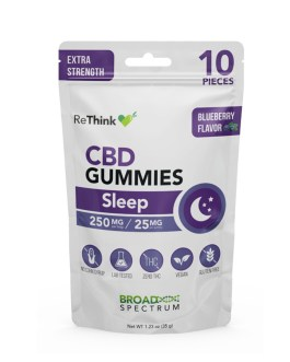 ReThink CBD Gel Capsules + Melatonin 10ct 25mg Each