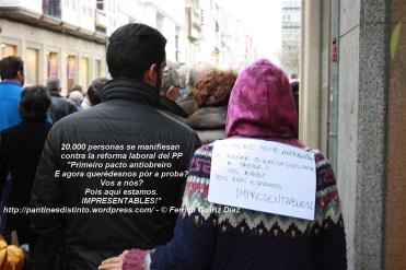 20.000 personas se manifiesan en Ferrol contra la reforma laboral del PP - fotografía por Fermín Goiriz Díaz