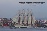 Buque Escuela Juan Sebastián de Elcano saliendo de la ría de Ferrol - fotografía por Fermín Goiriz Díaz, 16-02-2013 (8)
