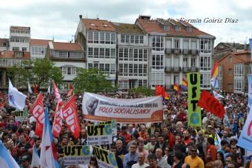 Folga Comarcal Ferrol, Huelga General Ferrol, 12 de xuño de 2013 - manifestación Ferrol, 12-06-2013 - fotografía por Fermín Goiriz Díaz(177)