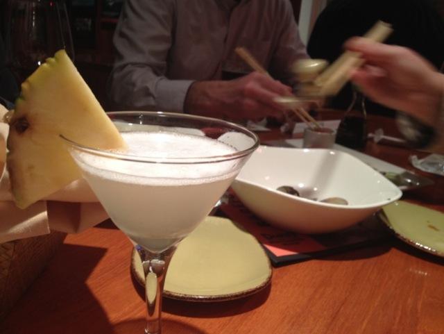 fresh pineapple martini, Dukes Huntington Beach, huntington Beach Pier