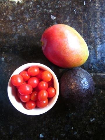 mango salsa, avocado, healthy fats