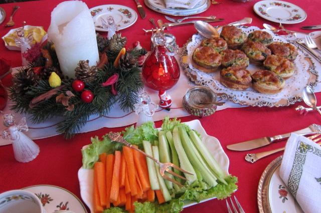 Crystel's Christmas table